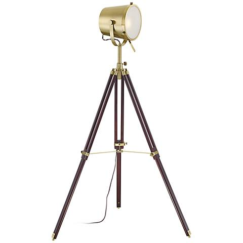 Possini Euro Markus Tripod Director's Floor Lamp