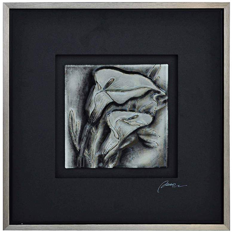 """Crestview B&W Floral II 25 1/2"""" Square Canvas"""