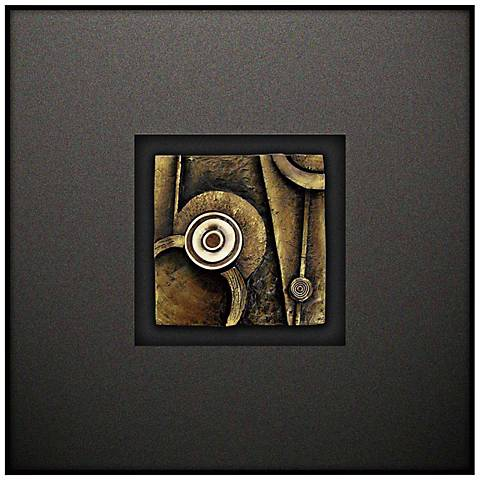 """Crestview Fuzed III 23 1/2"""" Square Canvas Wall Art"""