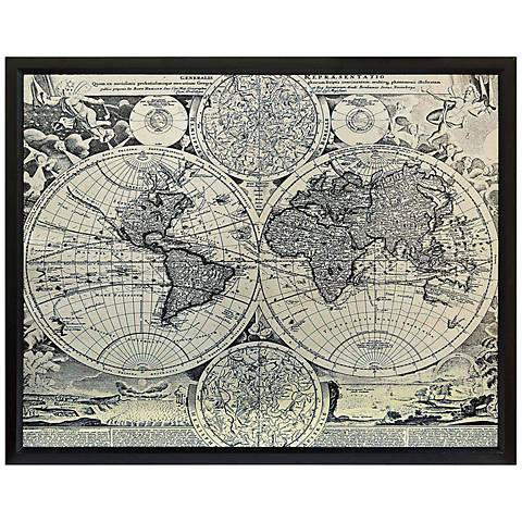 "Crestview Collection World Map 40 1/2"" Wide Wall Art"