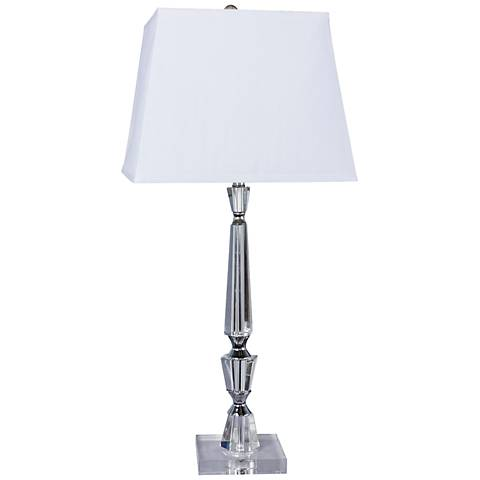 Turrelle Crystal and Chrome Table Lamp