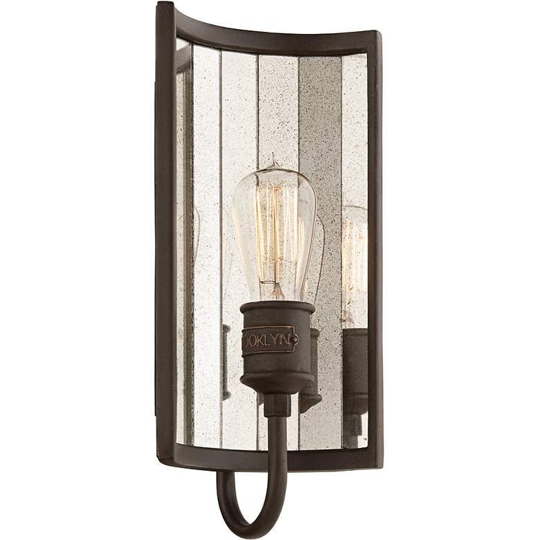 "Brooklyn 14 1/4"" High Bronze Finish Wall Sconce"