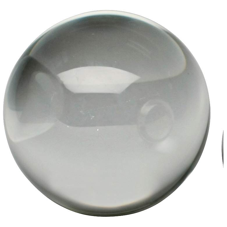 """Katee 3"""" Round Clear Crystal Decorative Sphere"""
