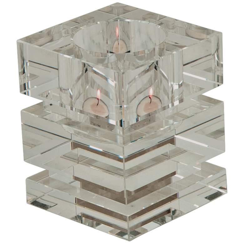 "Brilliant 5"" High Crystal Votive Tealight Candle Holder"