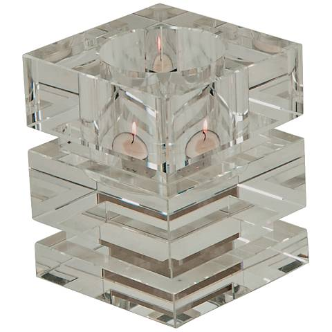 Brilliant Clear Votive Crystal Tealight Candle Holder