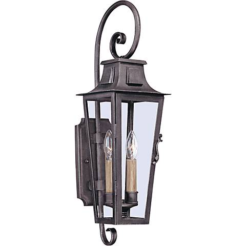 "Parisian Square 24"" High Aged Pewter Outdoor Wall Light"