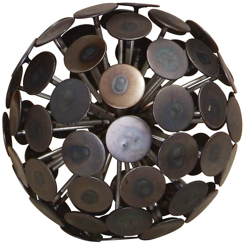 "Dandelion 5"" High Bronze Black Decorative Orb"