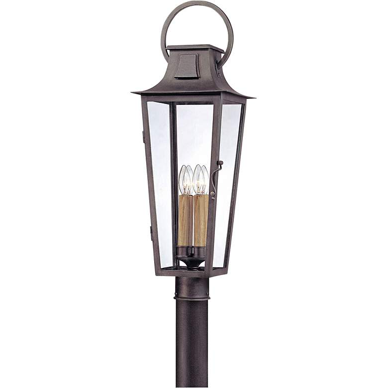"""Parisian Square 30"""" High Aged Pewter Outdoor Post Light"""