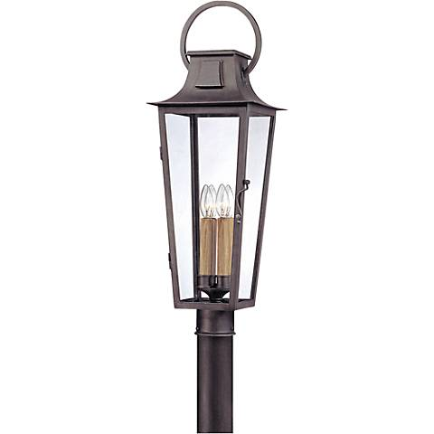 "Parisian Square 30"" High Aged Pewter Outdoor Post Light"