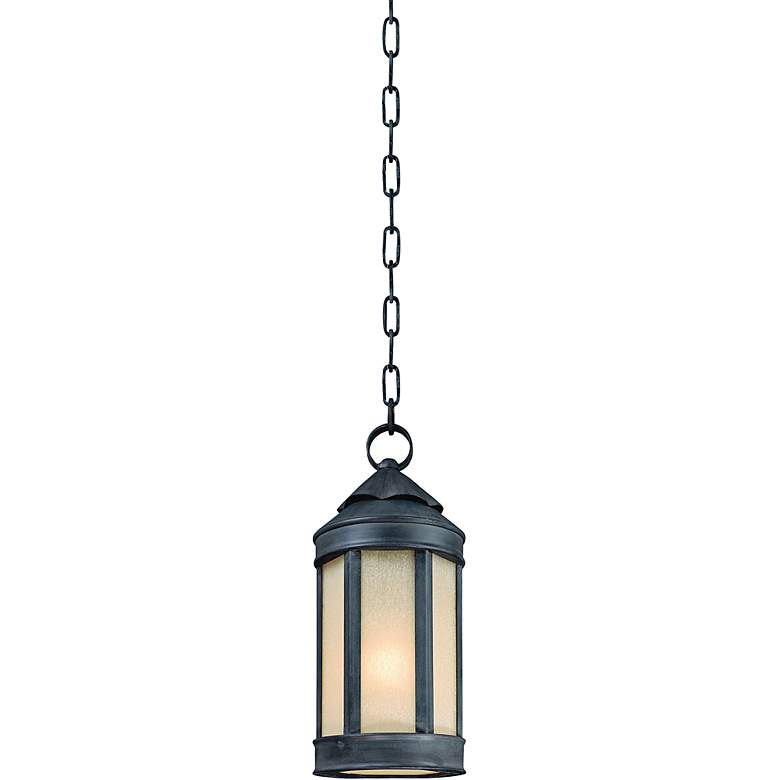 "Anderson Forge 16"" High Antique Iron Outdoor Hanging Light"
