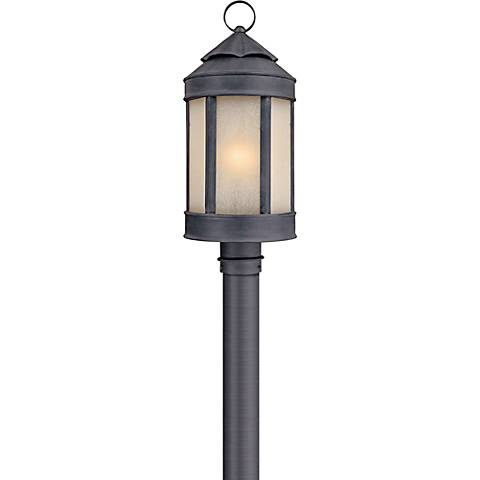 """Anderson Forge 21"""" High Antique Iron Outdoor Post Light"""