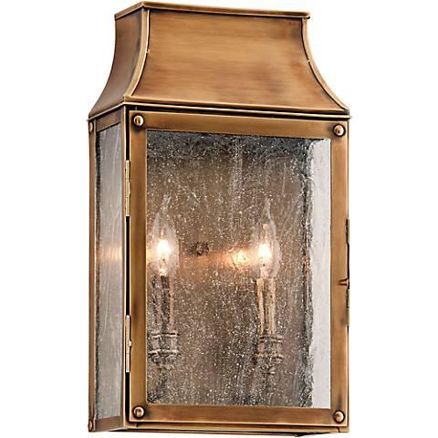 """Beacon Hill 16"""" High Heirloom Brass Outdoor Wall Light"""