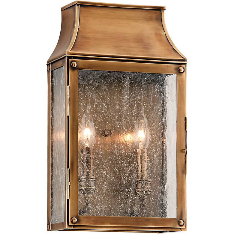 "Beacon Hill 16"" High Heirloom Brass Outdoor Wall Light"