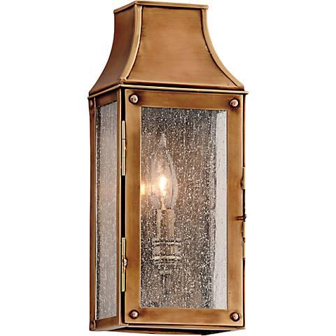 """Beacon Hill 13"""" High Heirloom Brass Outdoor Wall Light"""