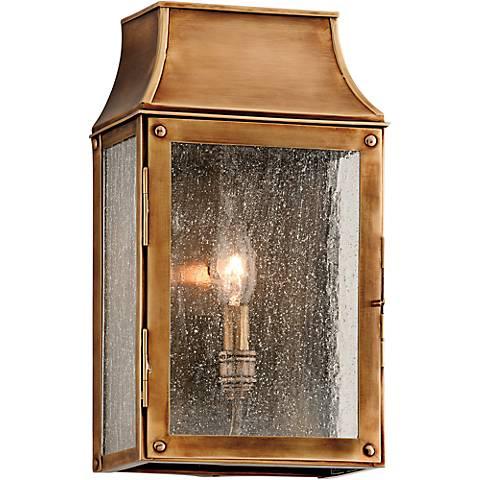 """Beacon Hill 12 3/4"""" High Heirloom Brass Outdoor Wall Light"""