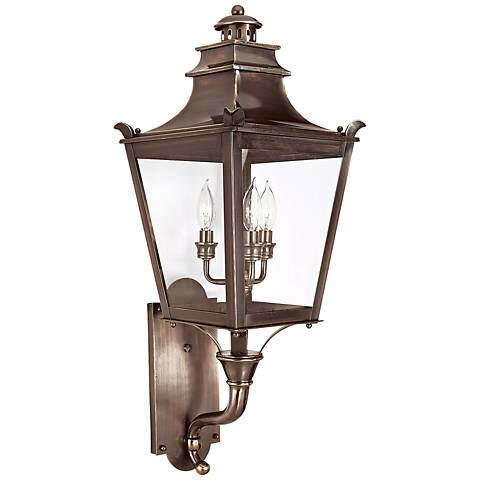 "Dorchester 30 1/2"" High English Bronze Outdoor Wall Light"