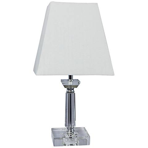 "Modali 15""H Crystal and Chrome Accent Table Lamp"