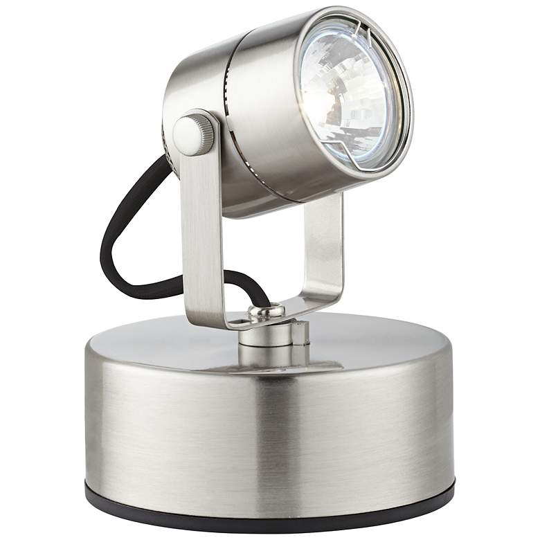 Brushed Nickel 50 Watt Plug-In Mini Accent Uplight