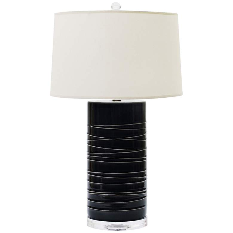 Oria Charcoal Ceramic Table Lamp