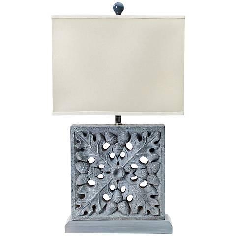 Montel Square Natural Concrete Table Lamp