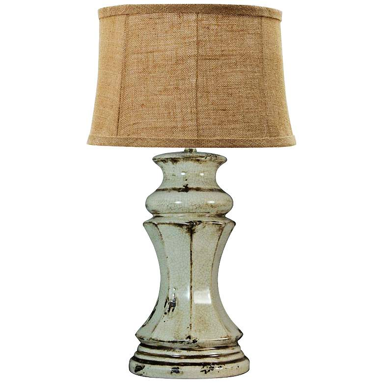 Nutley Gray Ceramic Flared Column Table Lamp
