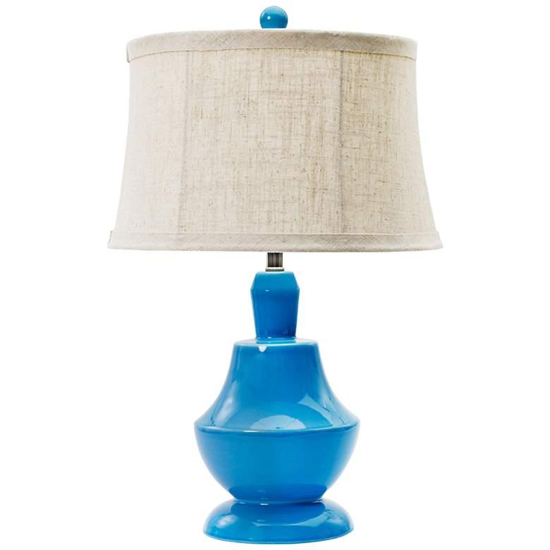 Skylar Peacock Blue Ceramic Table Lamp