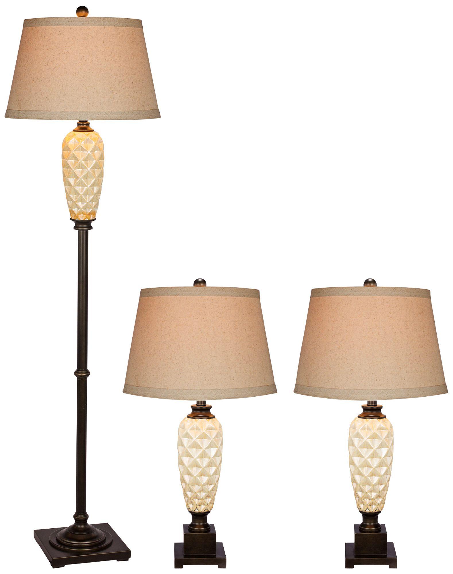 Ananas Madison Bronze Ceramic Floor and Table L& Set  sc 1 st  L&s Plus & Floor Lamp Sets - Matching Table u0026 Floor Designs | Lamps Plus