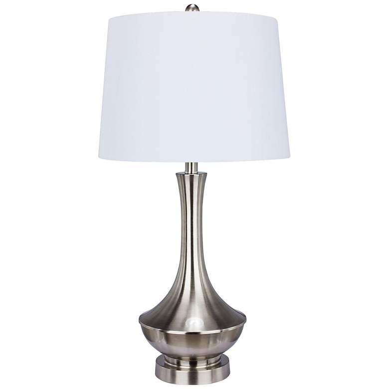 Kaylee Brushed Steel Metal Table Lamp