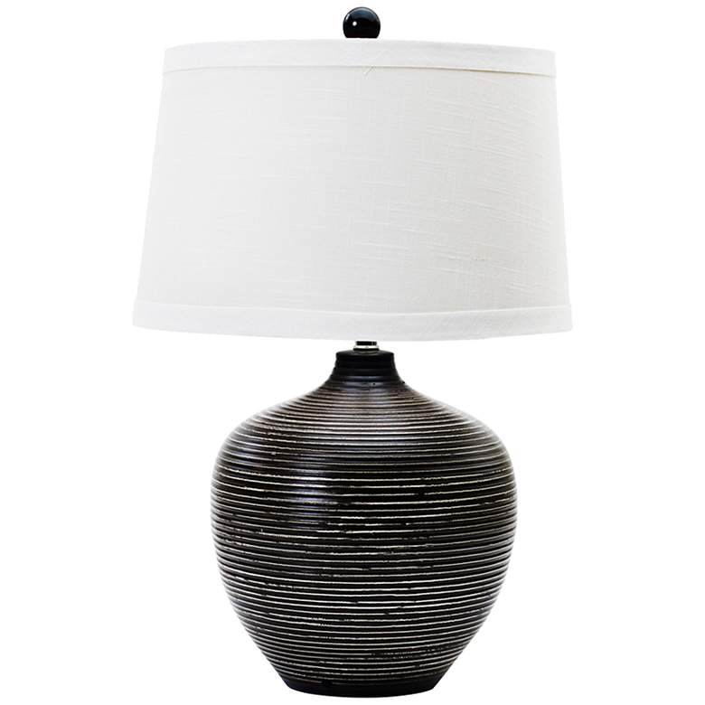 Owen Indigenous Brown Ceramic Table Lamp