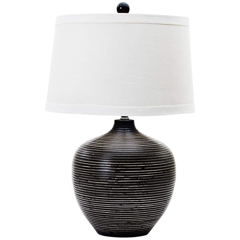 Owen Indigenous Brown Ceramic Table Lamp
