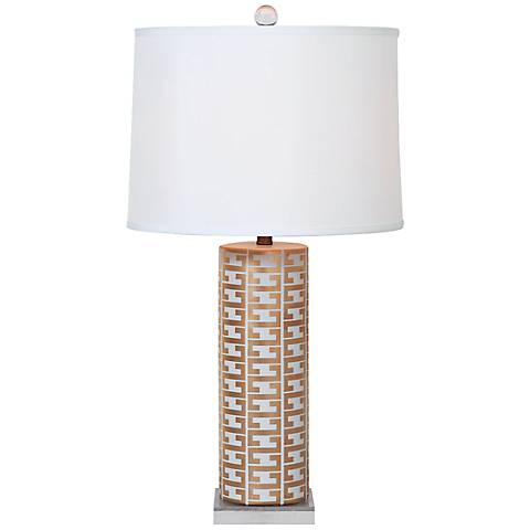 Port 68 Cameron White and Gold Porcelain Table Lamp