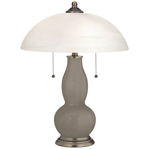 Backdrop Gourd-Shaped Table Lamp with Alabaster Shade