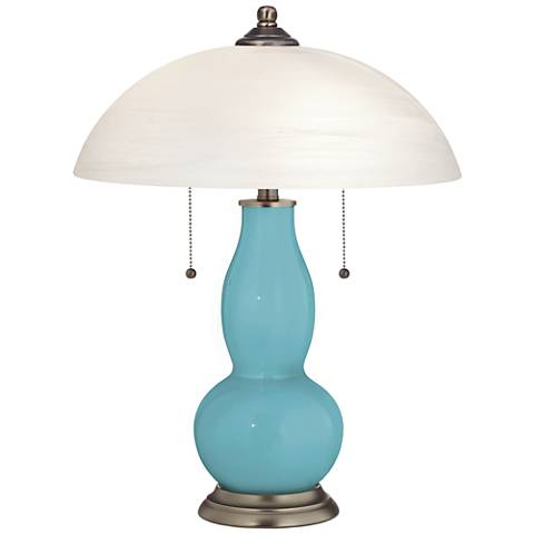 Nautilus Gourd-Shaped Table Lamp with Alabaster Shade