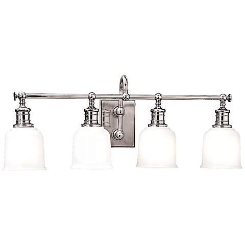 "Hudson Valley Keswick 4-Light 29"" Wide Chrome Bath Light"
