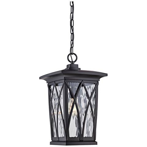 "Quoizel Grover 17 1/2""H Mystic Black Outdoor Hanging Light"
