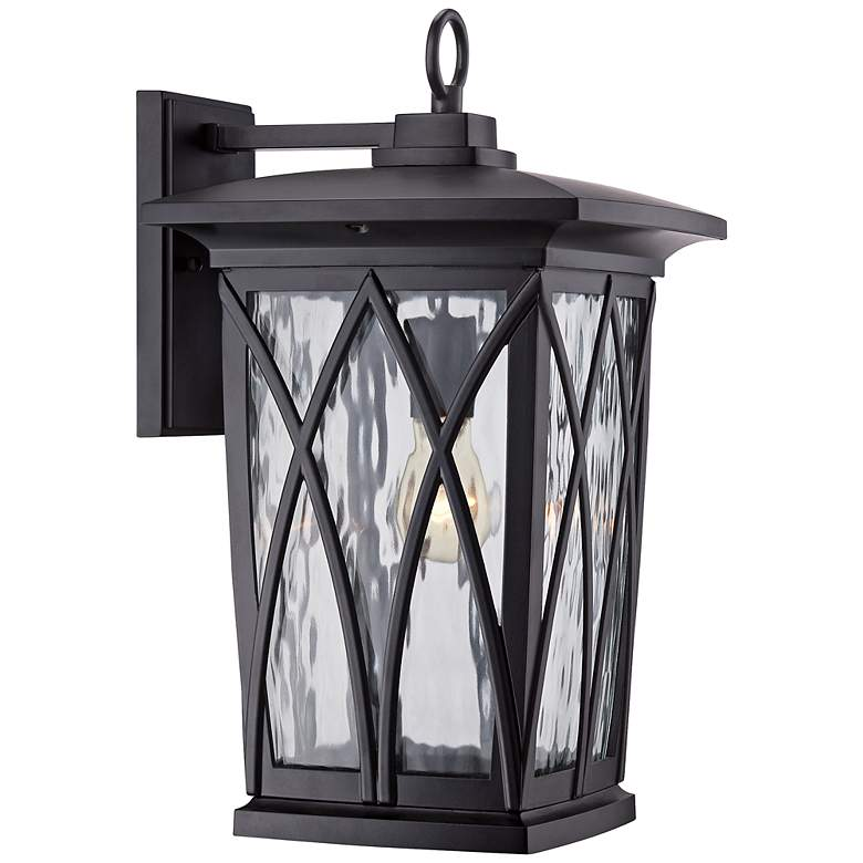 """Quoizel Grover 17 1/2""""H Mystic Black Outdoor Wall Light"""