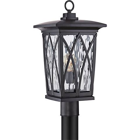 "Quoizel Grover 20 1/2""H Mystic Black Outdoor Post Light"