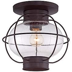 Copper flush mount outdoor lighting lamps plus cooper 10 12h copper bronze outdoor ceiling light aloadofball Choice Image