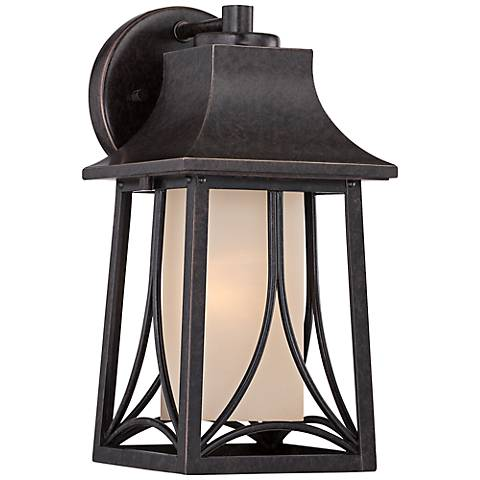 """Quoizel Hunter 11 1/2""""H Imperial Bronze Outdoor Wall Light"""