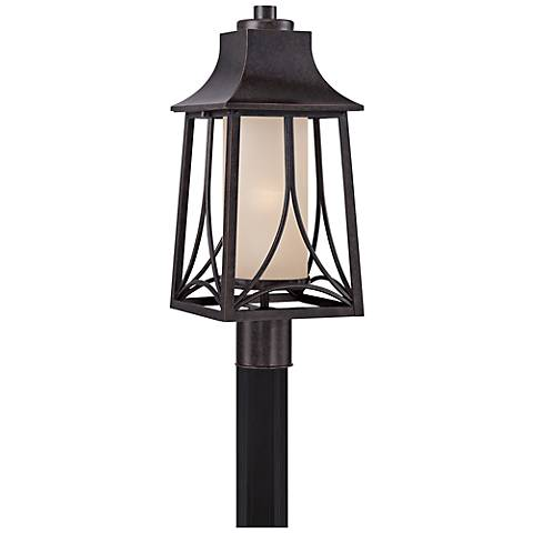 "Quoizel Hunter 21""H Imperial Bronze Outdoor Post Light"