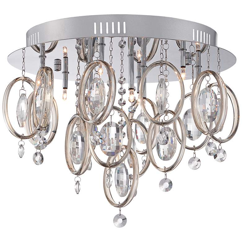 "Platinum Ella 16 1/2""W Polished Chrome Ceiling Light"