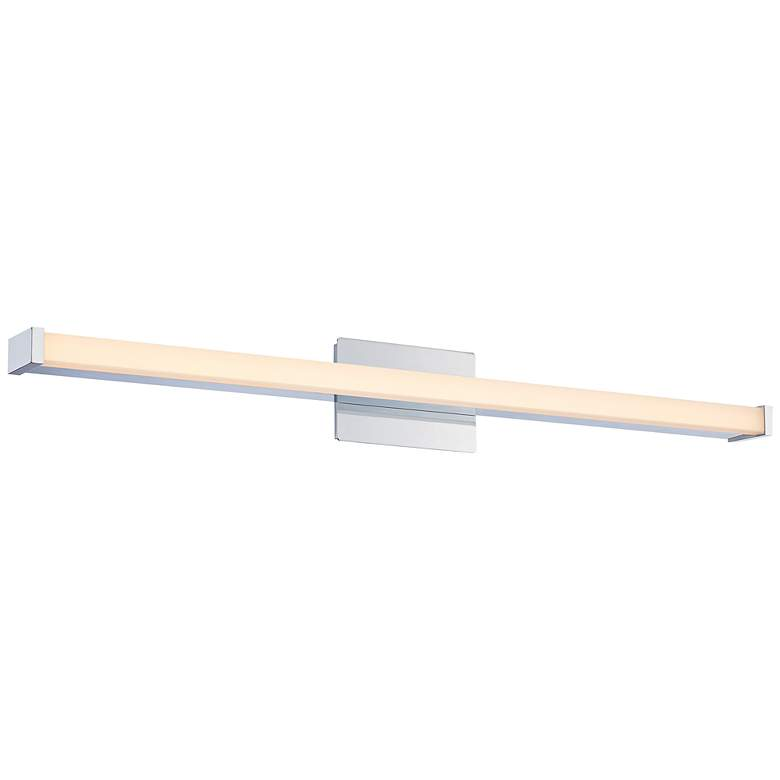 "Platinum Promenade 37""W Polished Chrome LED Bath Light"