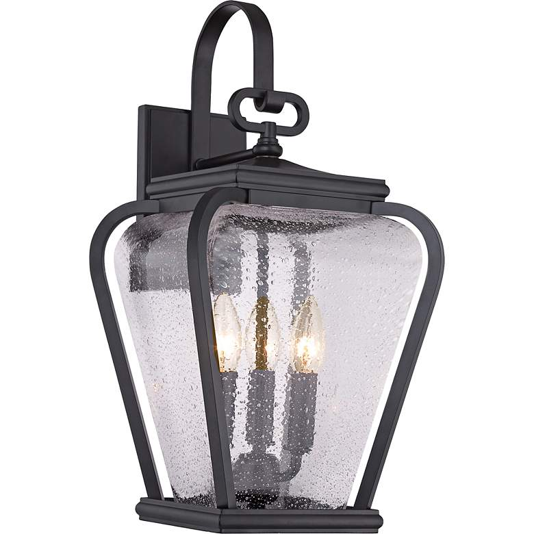 """Quoizel Province 19"""" High Mystic Black Outdoor Wall Light"""