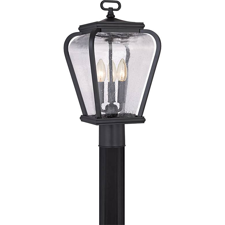 "Quoizel Province 18"" High Mystic Black Outdoor Post Light"