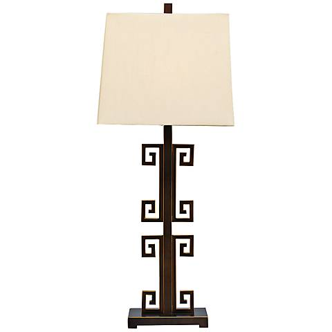 Port 68 Mizner Key Antique Bronze Metal Table Lamp