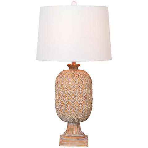 Port 68 Richmond Patina Amber Table Lamp