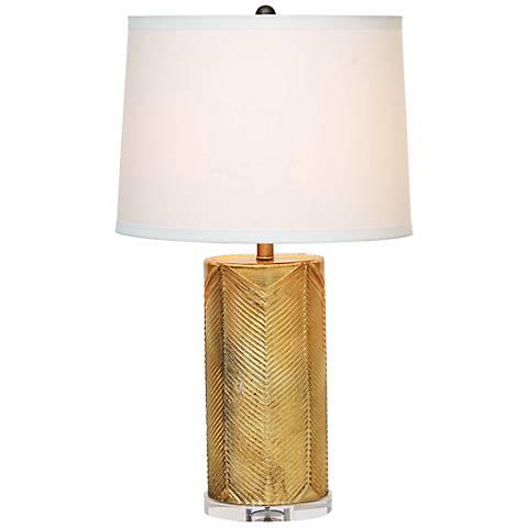 Port 68 Westwood Gold Leaf Glass Table Lamp