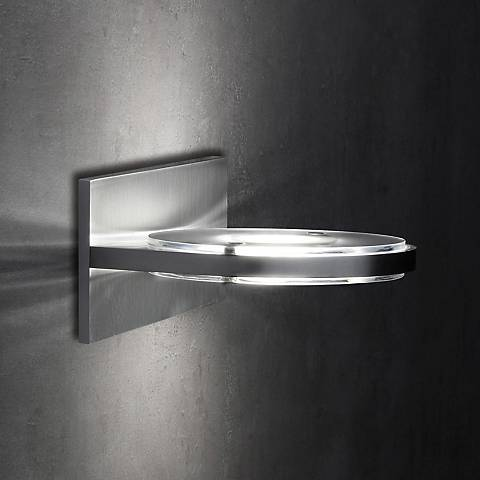 "Holtkoetter Wega Frost Glass 5 1/4"" High LED Wall Sconce"