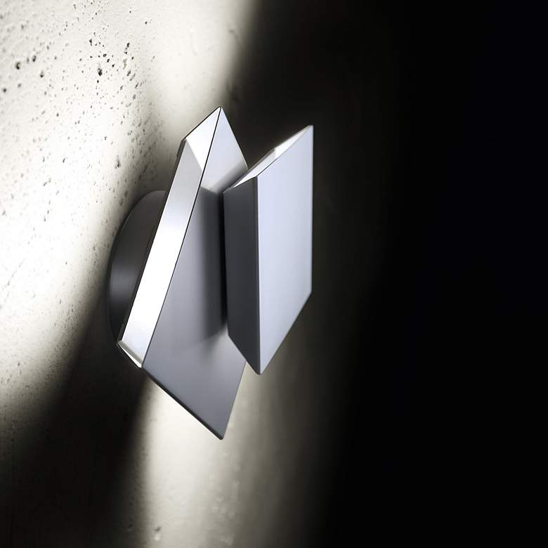 """Holtkoetter Cubic Dual Swivel 6"""" High LED Wall Sconce"""