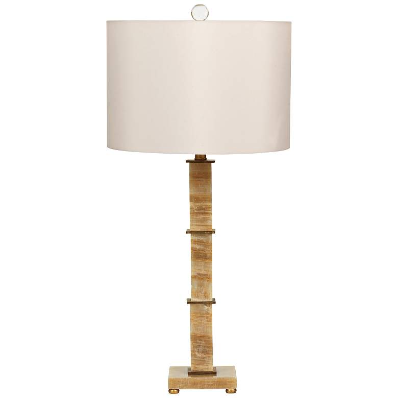 Port 68 Rialto Gold Leaf Marble Table Lamp